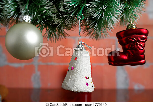 hanging Christmas baubles - csp41779140