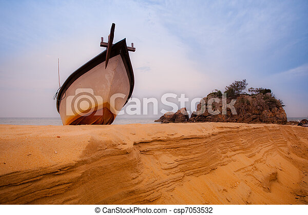 Hanging Fisherman's Boat - csp7053532