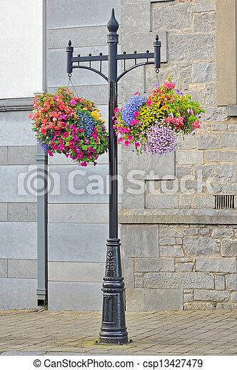 Hanging Flower Basket  - csp13427479