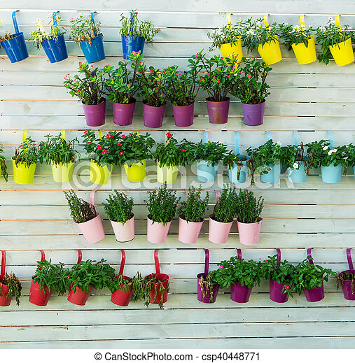 Hanging Flower Pots With Fence