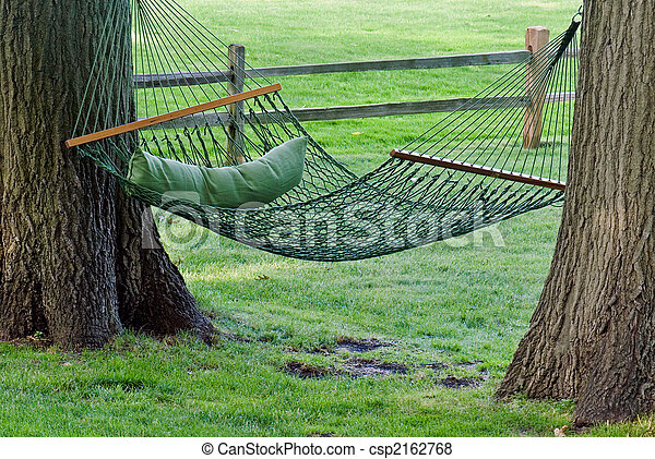 Hanging Hammock Backyard Hammock Between Two Oak Trees