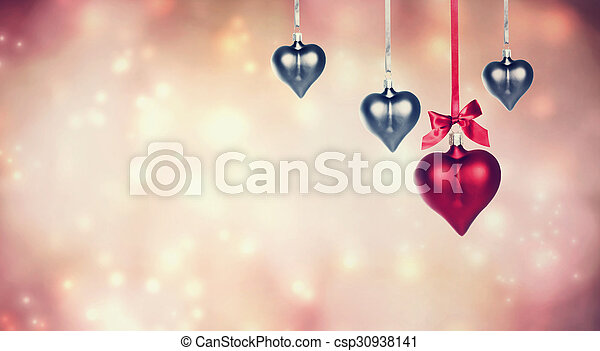 hanging heart shaped ornaments background hanging heart shaped