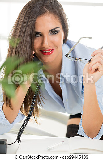 Hanging On The Telephone - csp29445103