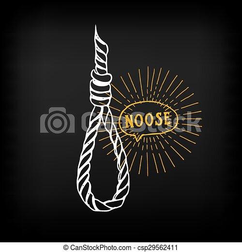 Hanging rope, noose sketch design vector. - csp29562411