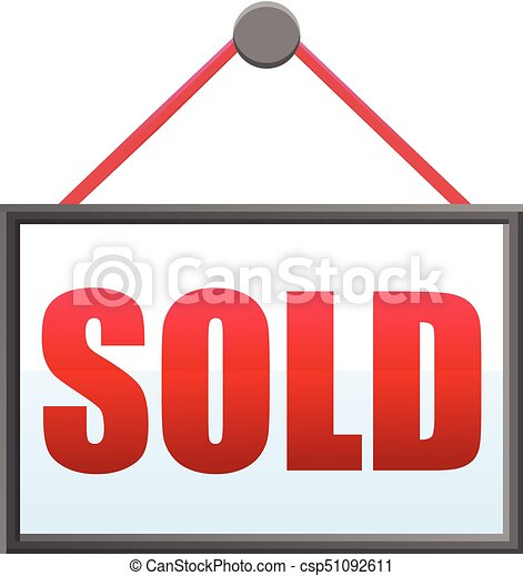 hanging sold sign vector icon vector illustration of a vector rh canstockphoto com sold sign clipart free sold out sign clipart