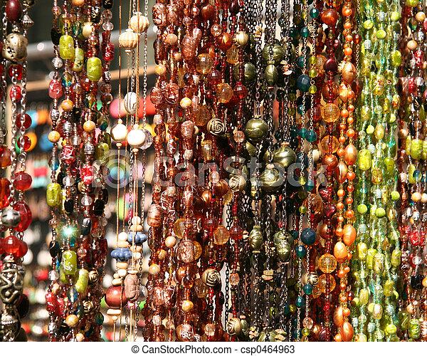 Hanging Textured Necklaces - csp0464963