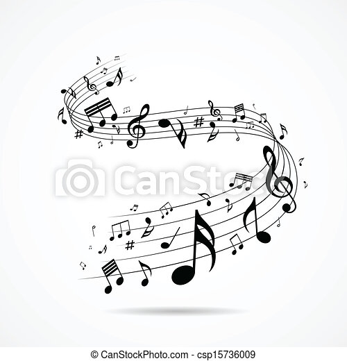 hangjegy, tervezés, zenés, elszigetelt - csp15736009