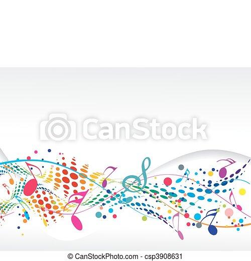 hangjegy, zene - csp3908631