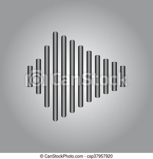 hangzik, vektor, rezgő, lenget - csp37957920