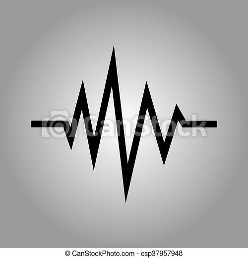 hangzik, vektor, rezgő, lenget - csp37957948