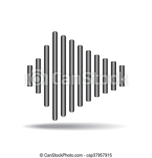 hangzik, vektor, rezgő, lenget - csp37957915