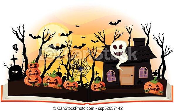 Hante Cric O La Lanterne Livre Halloween Maison