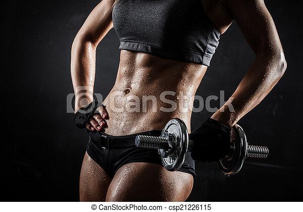 hanteln, fitness - csp21226115