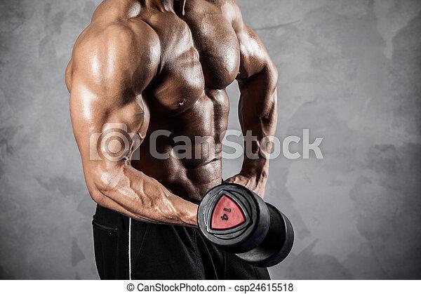 hanteln, fitness - csp24615518
