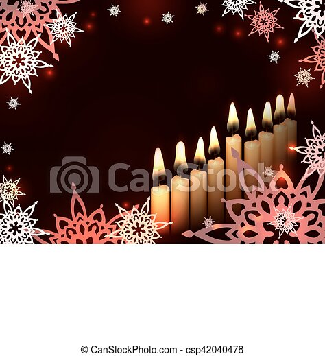 hanukkah candles star - csp42040478
