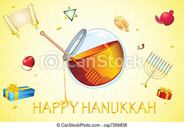 Hanukkah Card - csp7266838