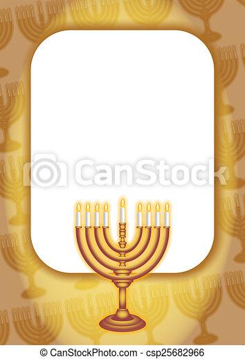 Hanukkah Gold Page Border - csp25682966
