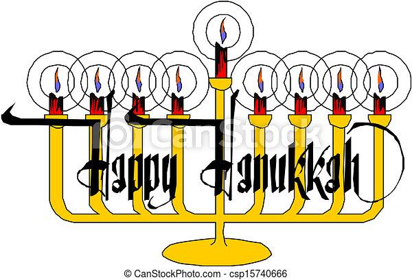 Hanukkah Menorah - csp15740666