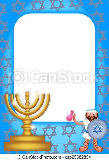 Hanukkah page border. A colorful page border celebrating the jewish ...