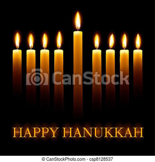 hanukkah., vrolijke  - csp8128537