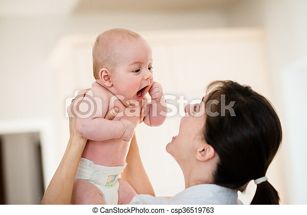 Happiness - mother with baby - csp36519763