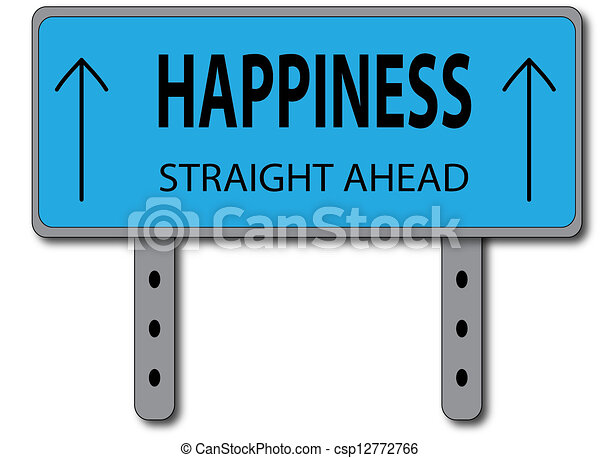 Happiness Sign Concept - csp12772766