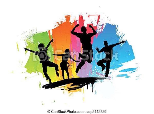 Happiness Splash - csp2442829