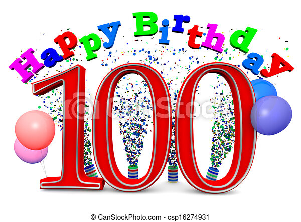 Happy 100th Birthday Illustrations And Stock Art 77 Illustration Vector EPS Clipart Graphics Available To Search From Thousands Of