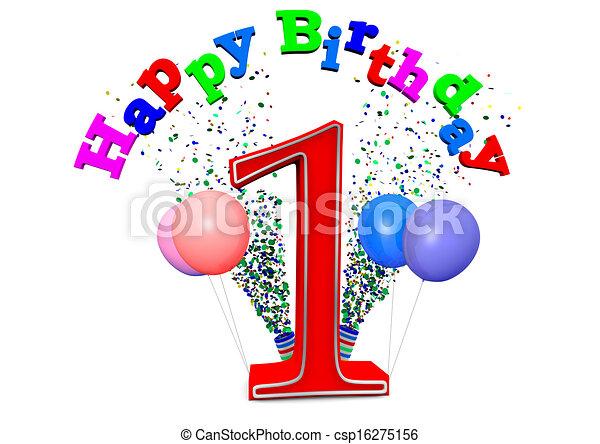 happy 1st birthday - csp16275156