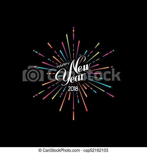 Happy 2018 New Year. - csp52162103