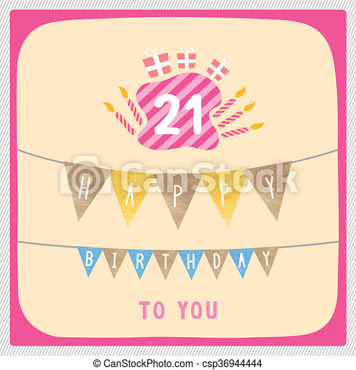 Happy 21st Birthday Card Happy 21st Birthday Anniversary Card With