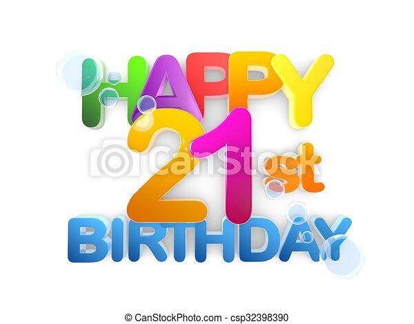 happy 21st birthday title light happy 21st birthday title in big rh canstockphoto com 21st birthday clip art pictures happy 21st birthday clip art free
