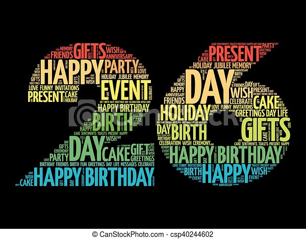 Peachy Happy 26Th Birthday Word Cloud Collage Concept Personalised Birthday Cards Paralily Jamesorg