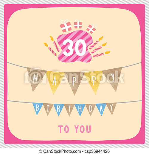 Happy 30th birthday card Happy 30th birthday anniversary card with