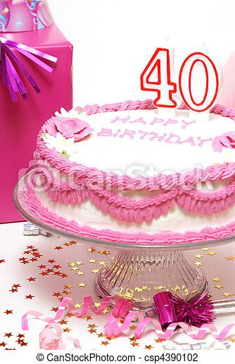 Happy 40th Birthday A 40th Birthday Cake To Celebrate Someones