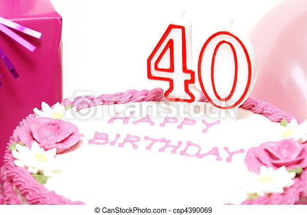 Stupendous Happy 40Th Birthday A 40Th Birthday Cake To Celebrate Someones Funny Birthday Cards Online Inifodamsfinfo