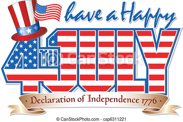 happy 4th july have a happy 4th july editable vector graphic rh canstockphoto com free 4th of july clipart for facebook free fourth of july clipart images