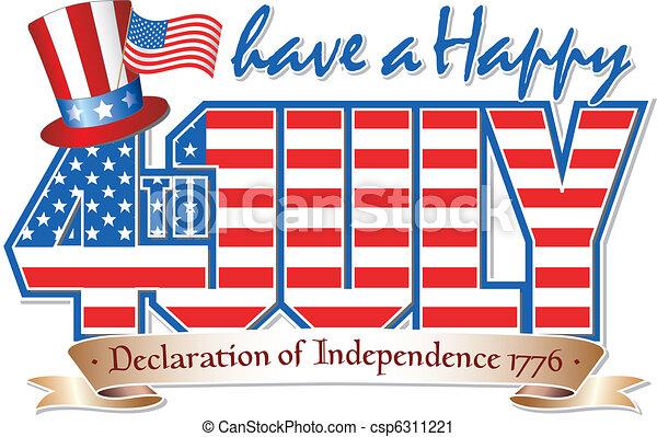 Happy 4th JULY - csp6311221