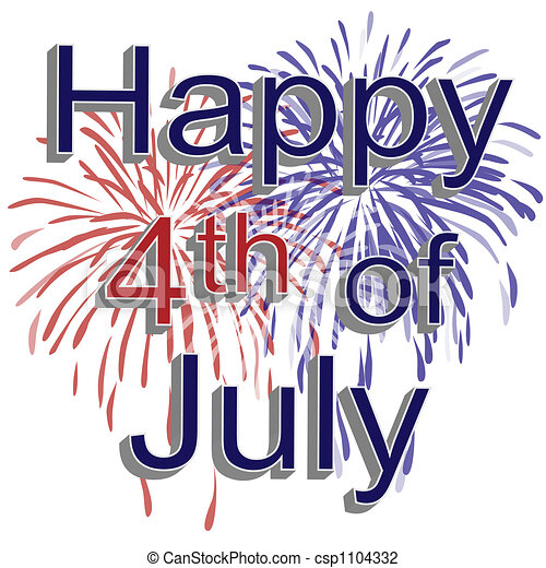 happy 4th of july fireworks graphic illustration of red white and rh canstockphoto com july 4th clip art borders july 4th clipart free animated