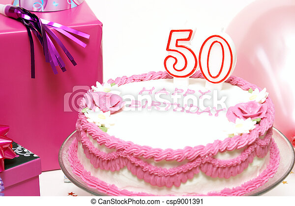Happy 50th Birthday A Cake For To Celebrate Someones