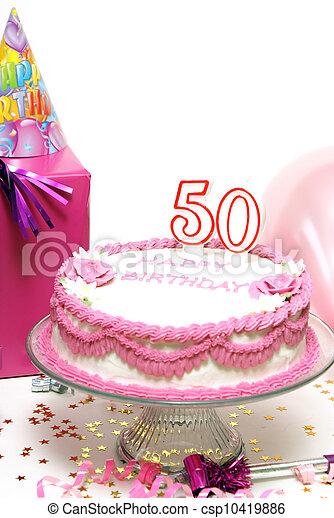 Enjoyable Happy 50Th Birthday A 50Th Birthday Cake For To Celebrate Personalised Birthday Cards Veneteletsinfo