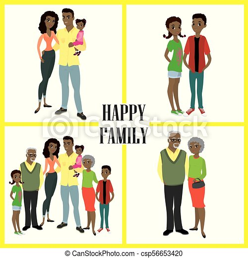 happy african american family parents their son and vector rh canstockphoto com african american christian family clipart african american christian family clipart