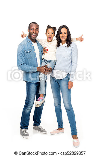happy african american family - csp52829357