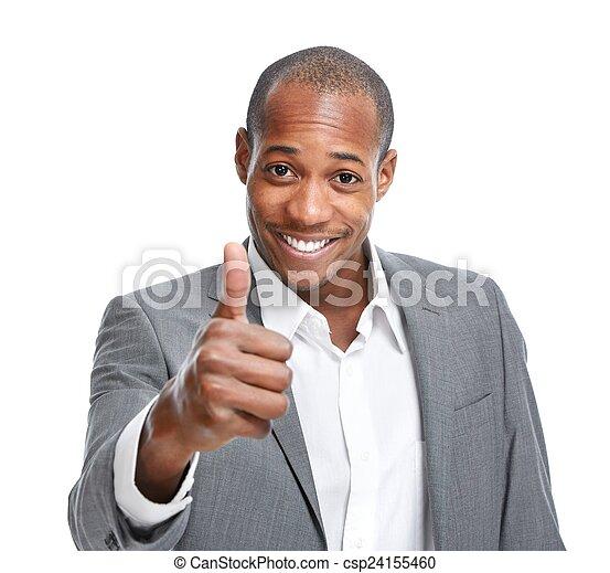 Happy African-American man. - csp24155460