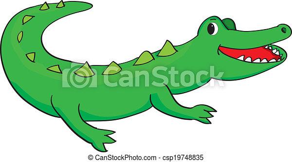 happy alligator - csp19748835