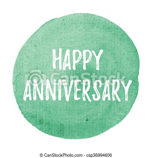 Happy anniversary card, celebration, poster, logo, words, text ...