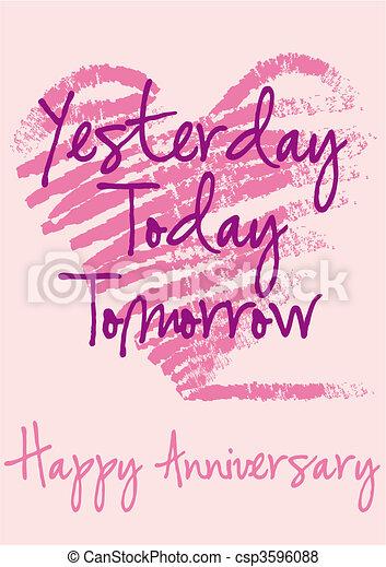 Happy anniversary vector card anniversary greeting card with happy anniversary vector card m4hsunfo