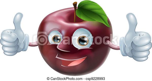Happy apple man  - csp9228993