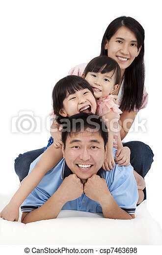 Happy Asian Family - csp7463698