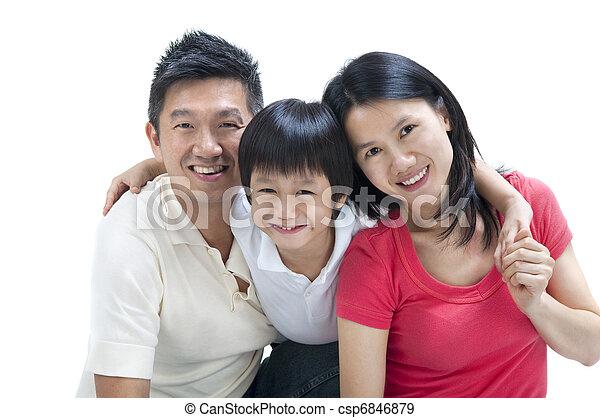 Happy Asian family - csp6846879